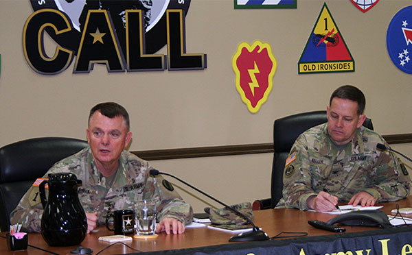 TRADOC Commanding General visits CALL