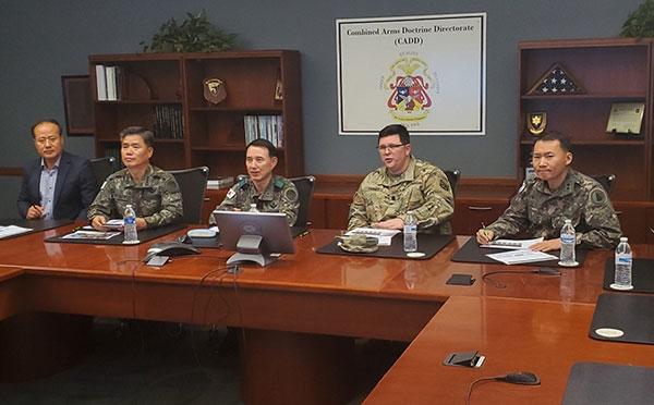 CADD briefs ROK Army Battle Command Training Program Commander